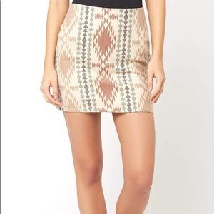 South Moon Under Southwest Chic Tribal Mini Skirt
